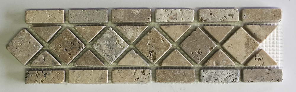 """Philly Scabos Travertine Classic Border - 3"""" x 12"""" Image"""