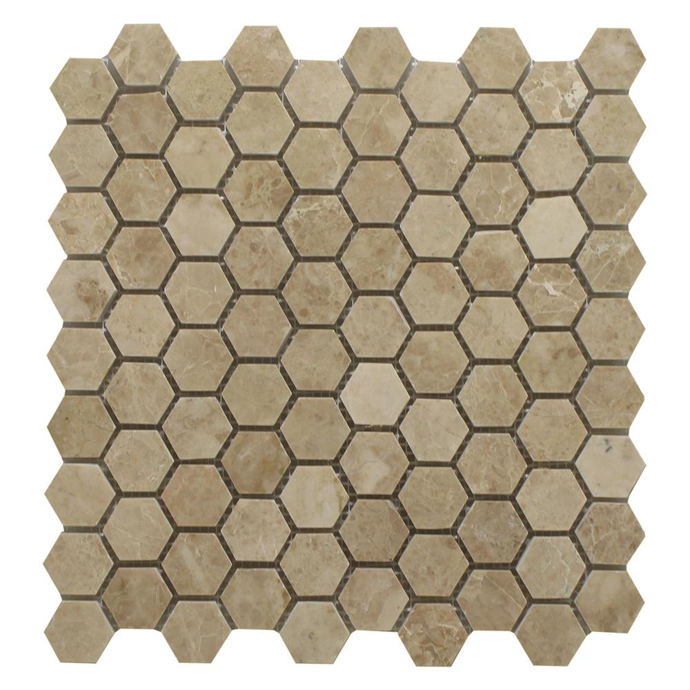 """Cappucino Honey Comb - 1""""x 1/4"""" Image"""