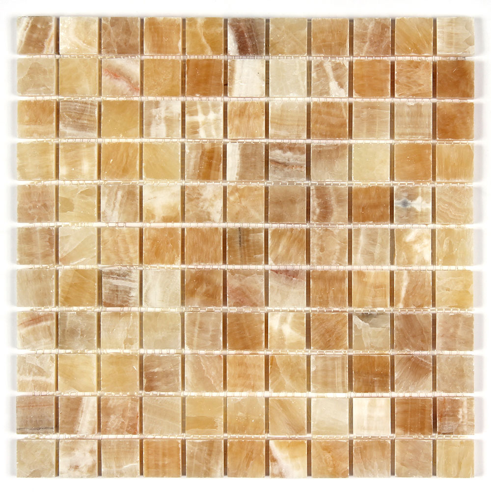Honey Onyx 1x1 Polished Mosaic Image