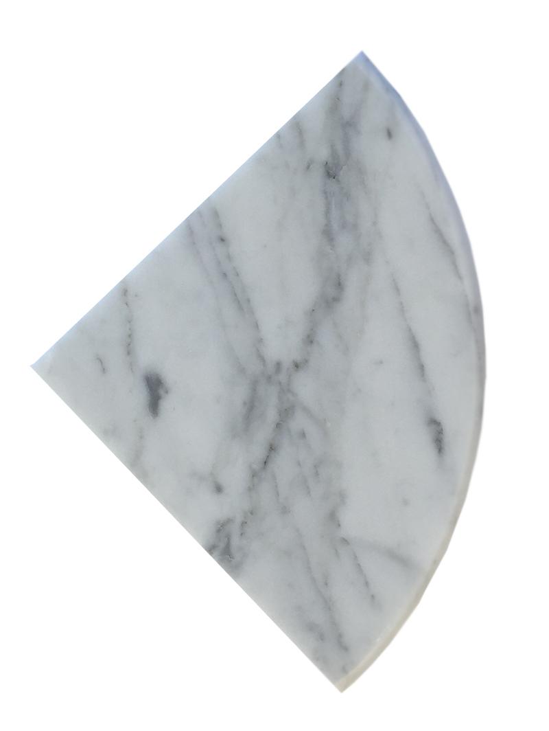 """Bianco Carrara Full Bulnose Both Side Polished - 9"""" Image"""