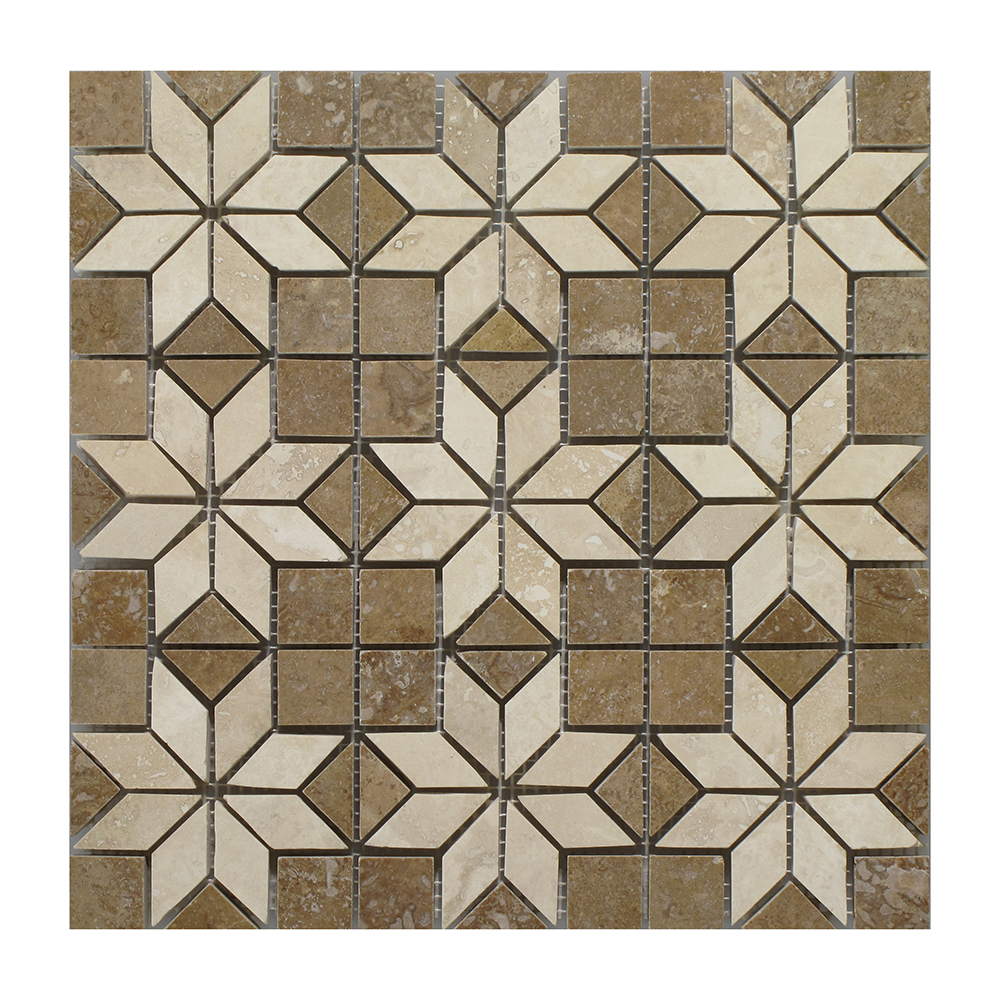"Noce - Light Insert Mosaic (9 pcs inserts) - 12"" x 12"" Image"