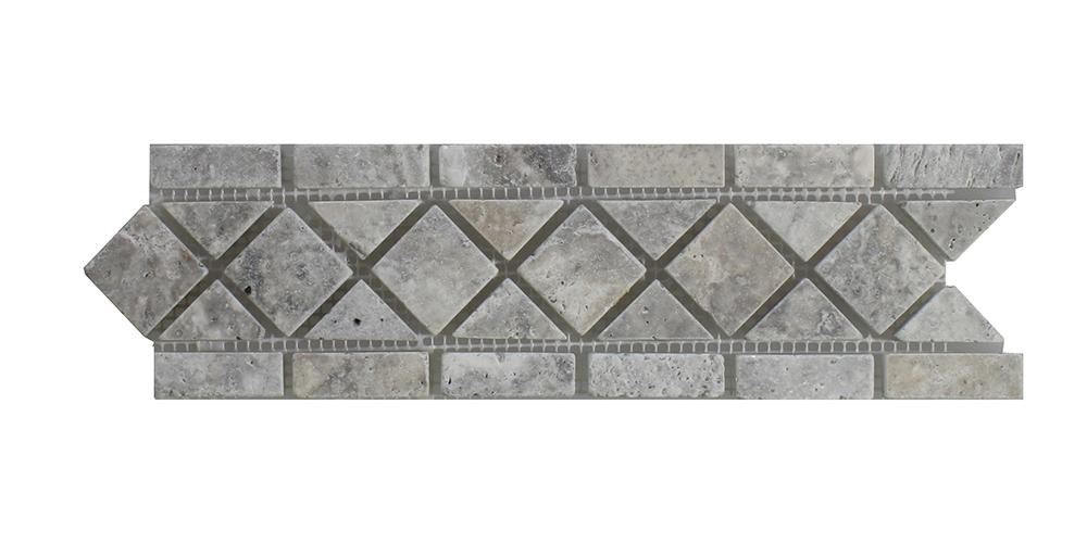"""Silver - Silver Classic Border - 3 1/4"""" x 12"""" Image"""