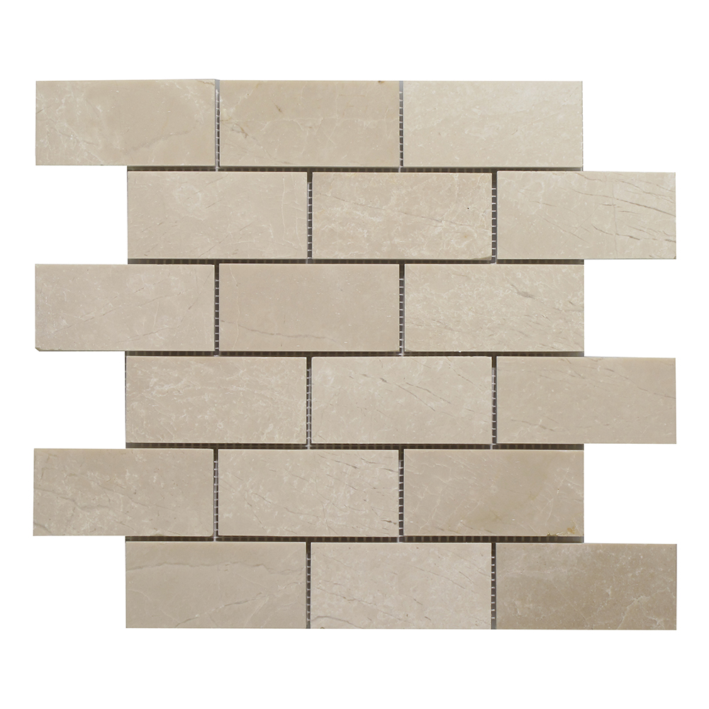 "Botticino Split Face Brick - 2""x4"" Image"